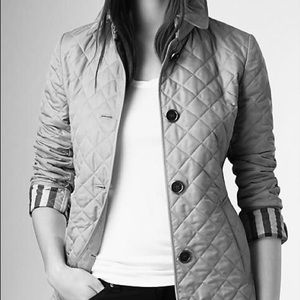 Blush pink Burberry quilted Coat